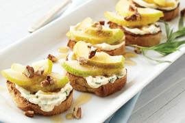 Pear Walnut Crostini