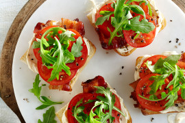 Brie Tomato and Caramelized Bacon Sandwich