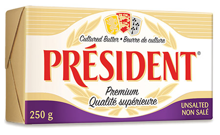 President Cheese Unsalted Butter 250g