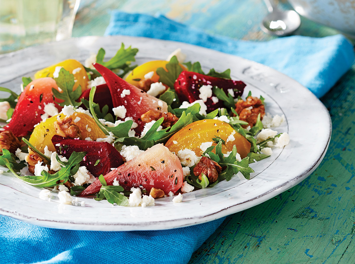 ROASTED BEET SALAD WITH PRÉSIDENT FETA CRUMBLE